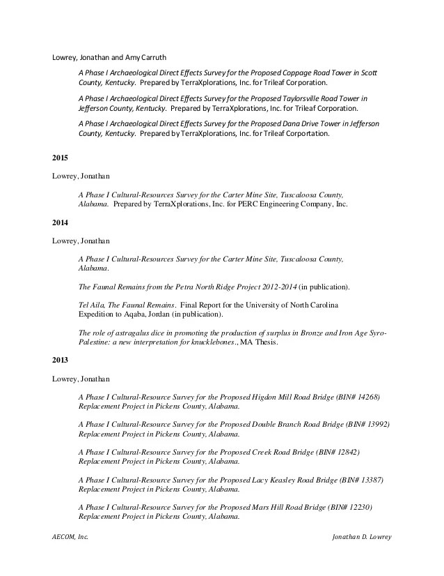 national park service resume examples