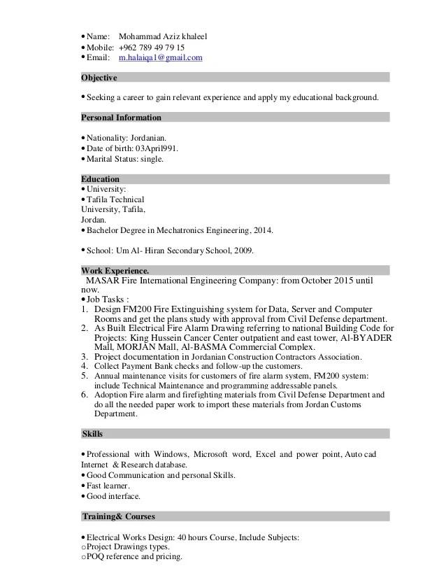 mechatronics degree - Josemulinohouse - mechatronics engineer sample resume