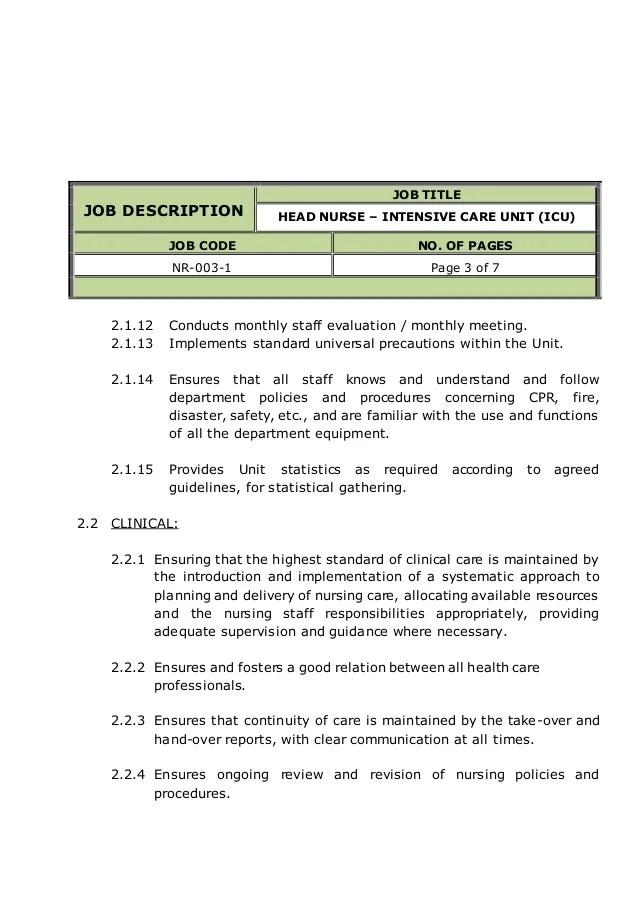 job description job title wound care nurse reports to director of