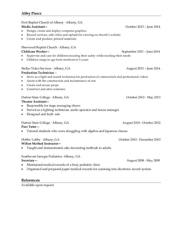 cake decorating resume