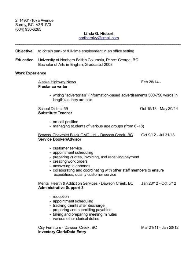 Resume Samples Clerical Skills | Administrative Assistant Online