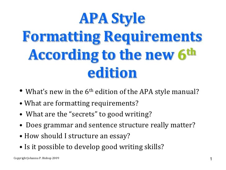 apa formatting guide 6th edition - Maggilocustdesign - paper formatting guidelines