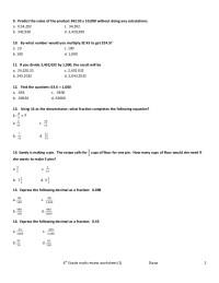 6th grade math review worksheet(1)