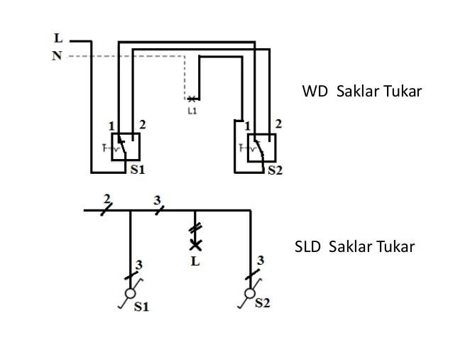 diagram wiring satu photocontrol dua lampu