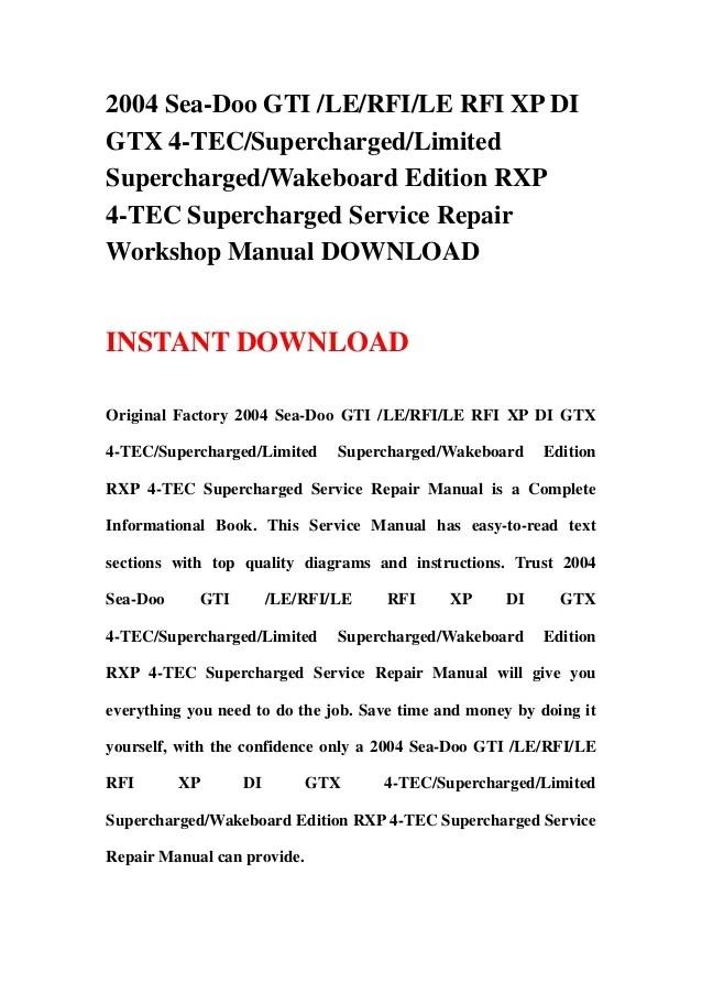 2005 seadoo sea doo workshop service repair manual download