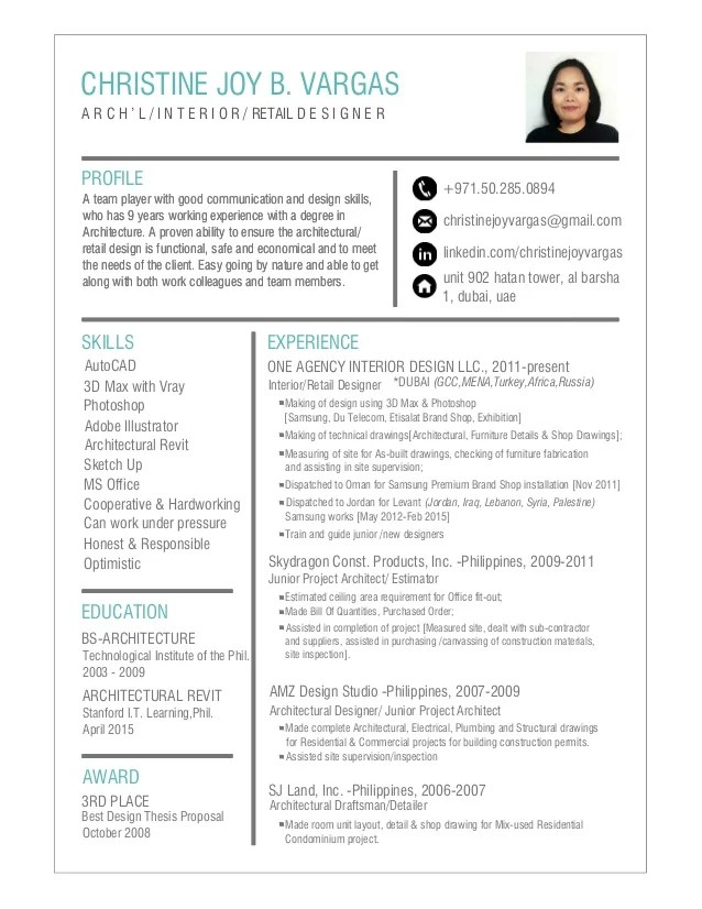 christine gendron cv design
