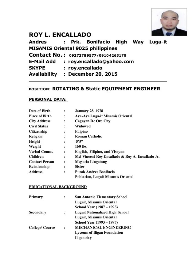 sample resume rotating equipment engineer - Equipment Engineer Sample Resume