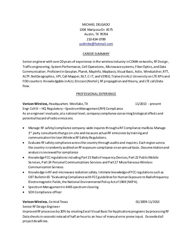 rf engineer resume samples - Alannoscrapleftbehind
