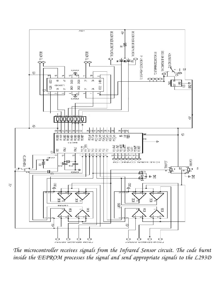 line follower motor circuit diagram
