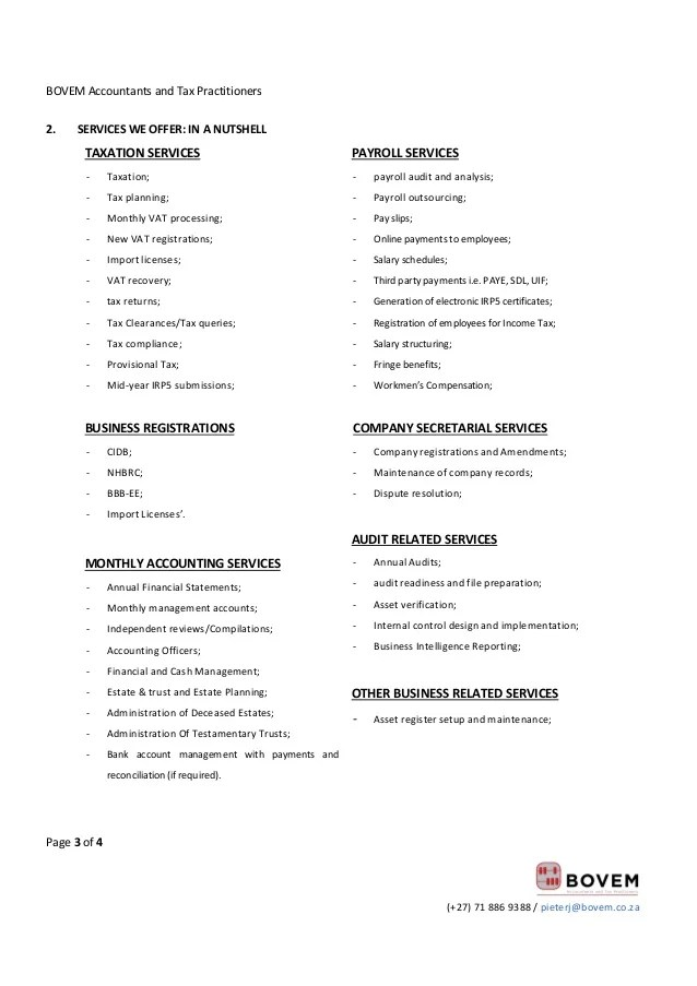 proposal for bookkeeping services template - Minimfagency