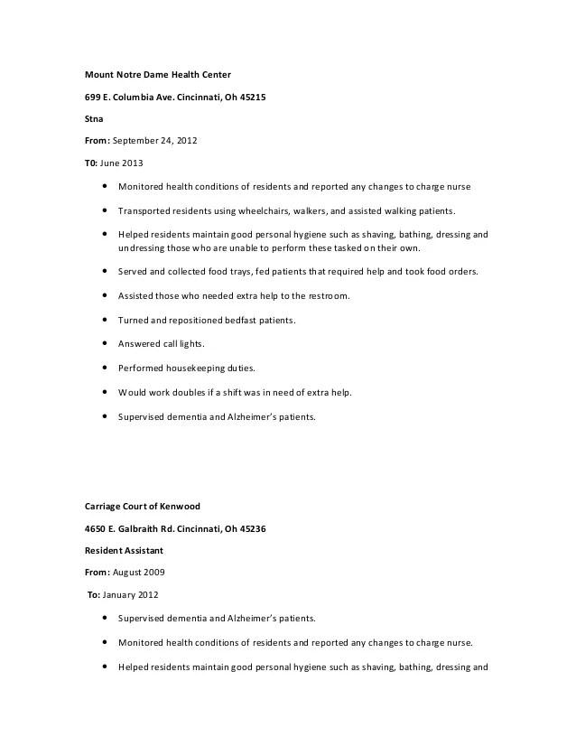 stna resume - Ozilalmanoof