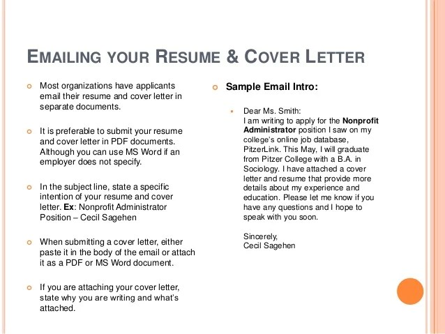 how to submit a resumes - Onwebioinnovate - emailing your resume