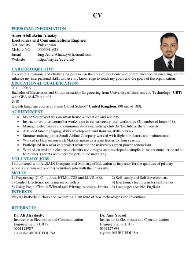 resume european format