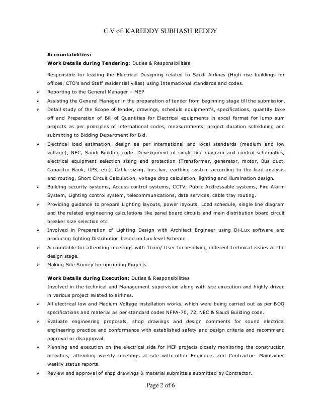 model resume for electrical engineer radiovkm