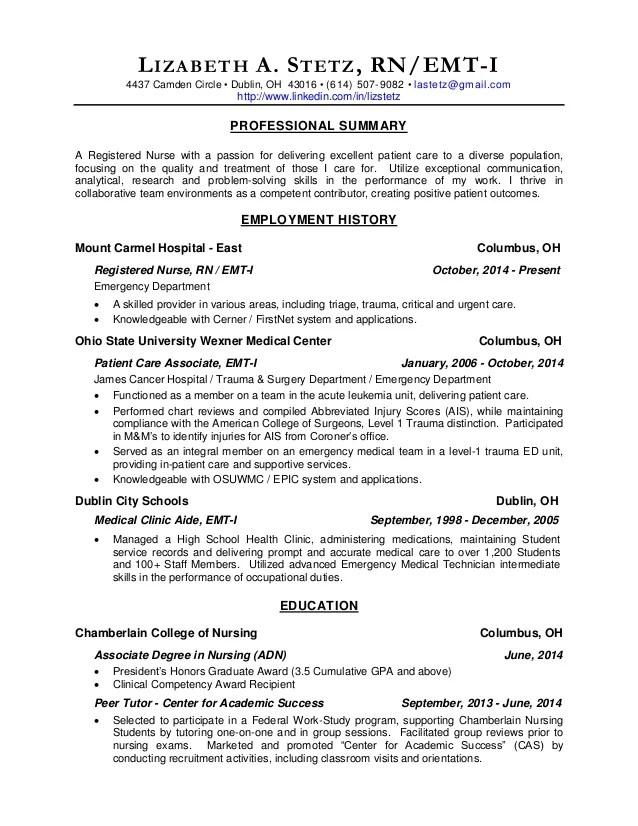 oncology rn resume - Ozilalmanoof - sample of rn resume