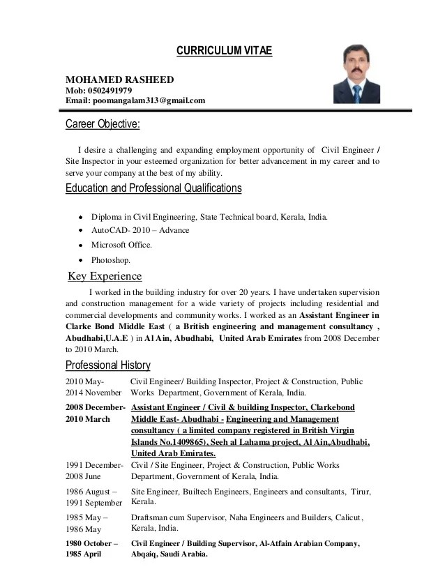 Resume Objective Monster Career Advice Civil Engineer And Inspector