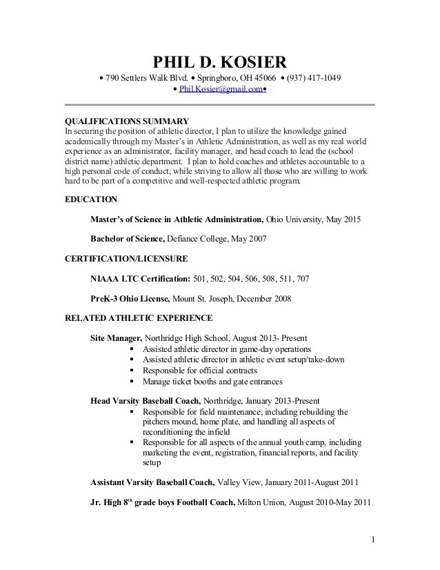 professional athlete resume simple clean resume design with clear section headings resume for college athletic director - Sports Administration Sample Resume