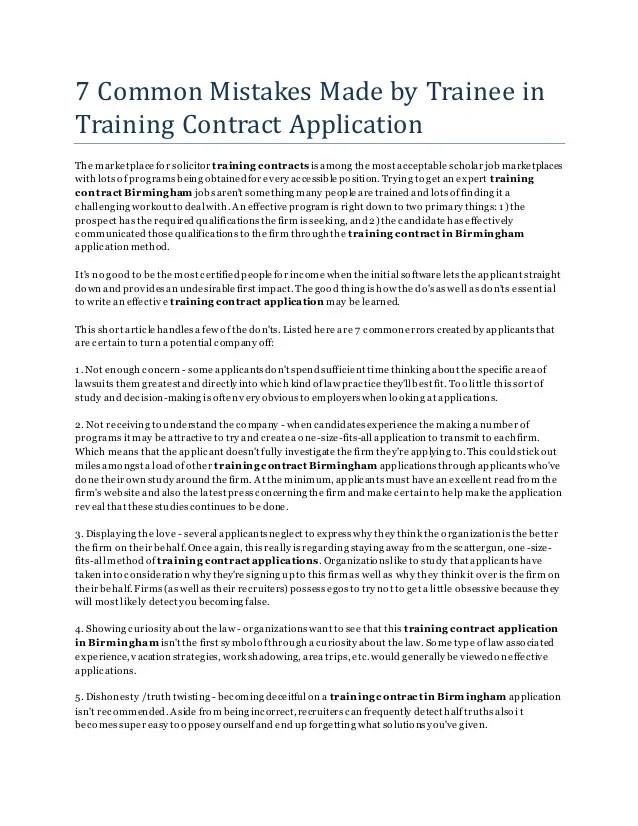 cover letter training contract - Funfpandroid