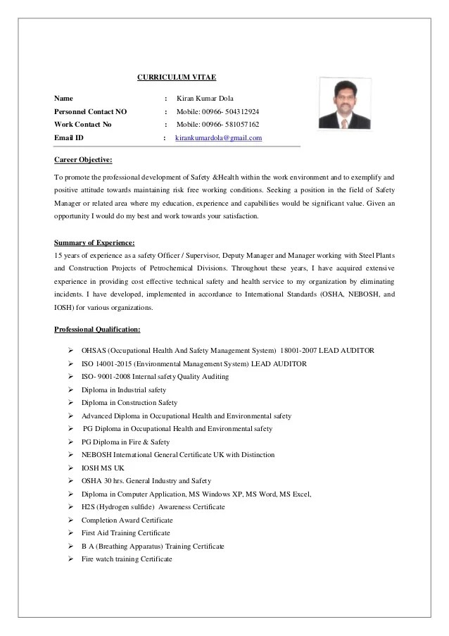 Fire Safety Manager Sample Resume madebyrichard