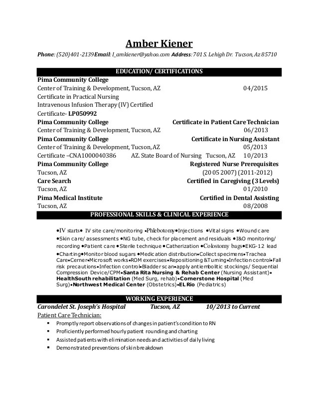 Rn Resume Sample - Fiveoutsiders