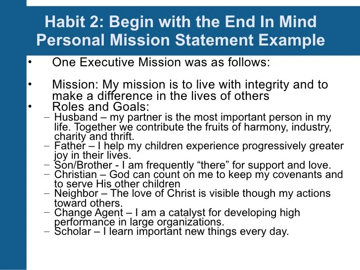 How to write good mission statements