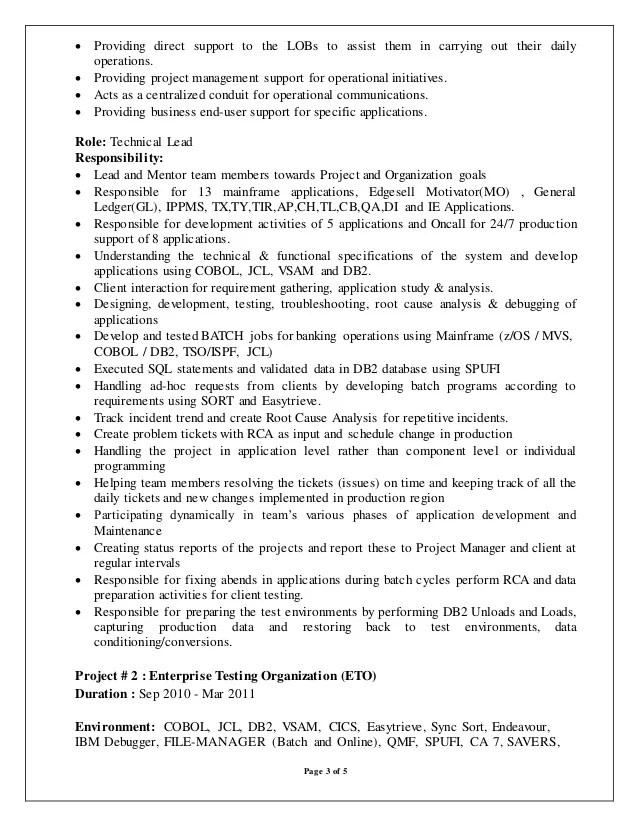 mainframe resumes - Ozilalmanoof - mainframe architect sample resume