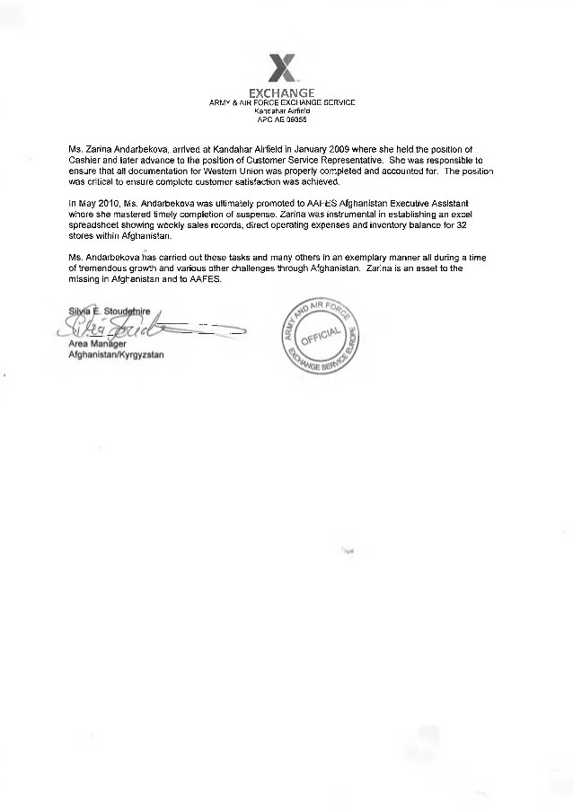 air force promotion recommendation letter - Minimfagency
