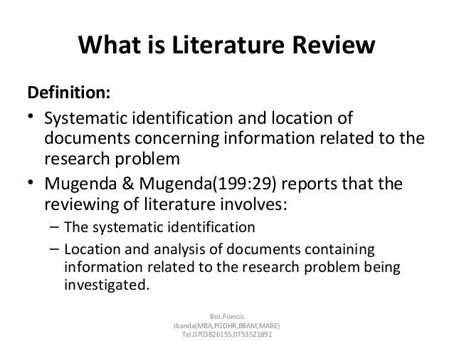 literature review what is it - Muckgreenidesign