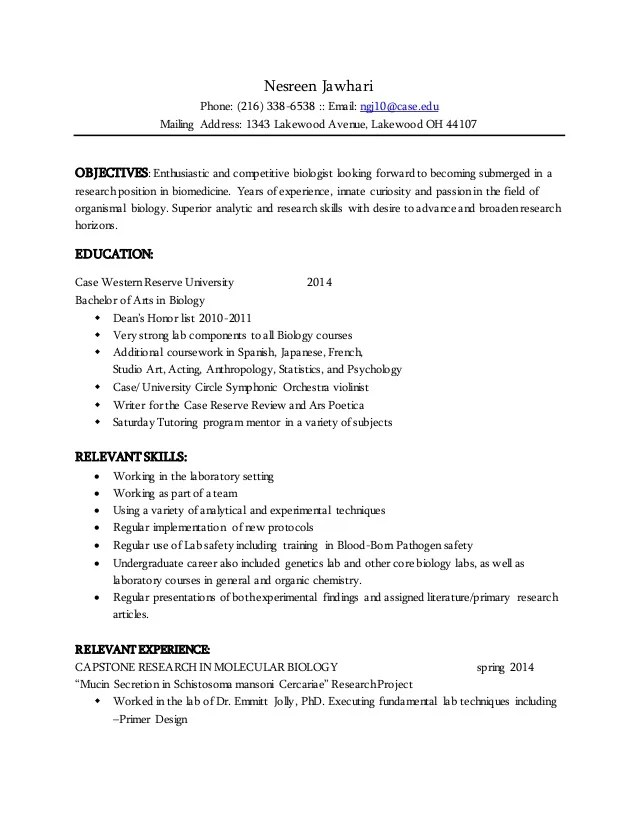 Lesson Plan 4 Resume Writing Laep Nesreen Jawhari Resume 2015