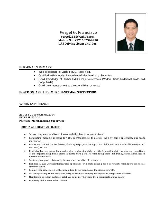 Curriculum Vitae Sample Format Job International Curriculum Vitae Resume Format For Overseas Vergel Cv Merchandising Supervisor
