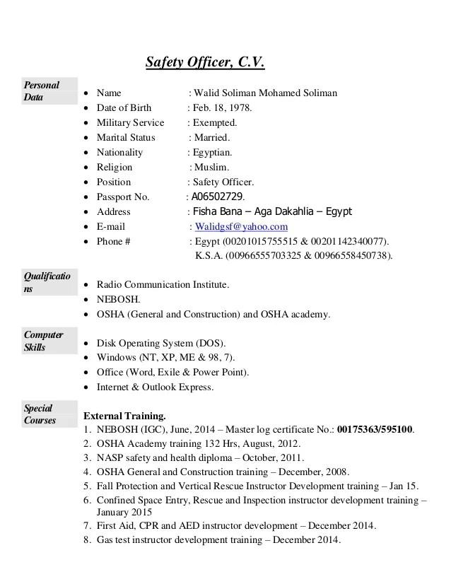 safety officer resumes - Boatjeremyeaton - radiation safety officer sample resume