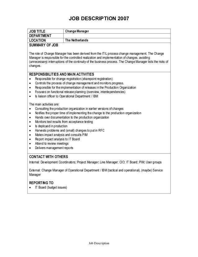 project management job description - Funfpandroid