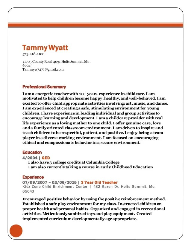 Enchanting Resumes By Tammy El Paso Tx Motif - Resume Ideas ...