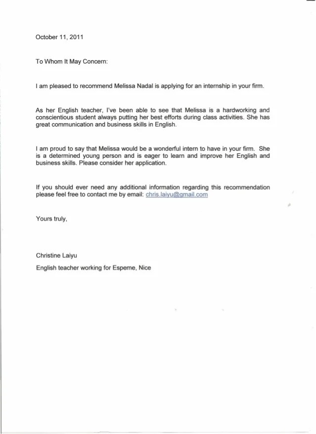 english recommendation letter sample - Goalgoodwinmetals - writing captivating recommendation letter