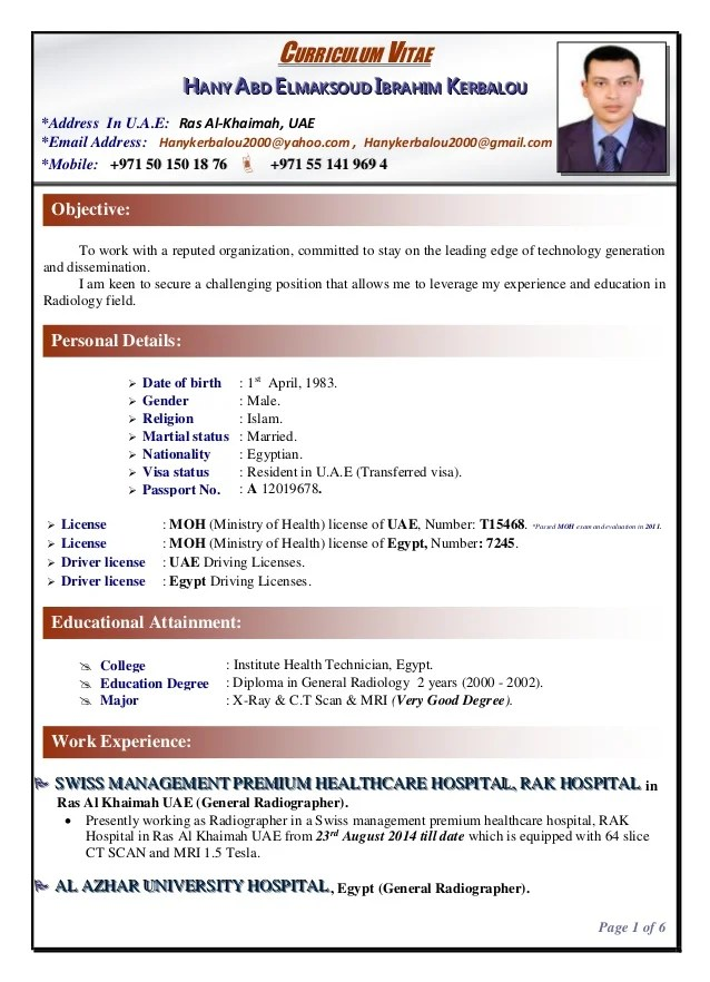 radiographer resumes - Onwebioinnovate - radiographer resume