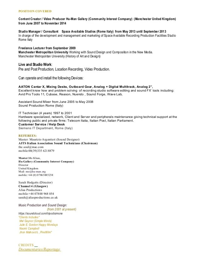 digital media director resume - Tikirreitschule-pegasus