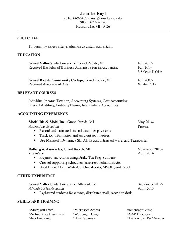 intermediate accountant resume - Josemulinohouse - staff auditor sample resume