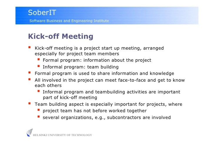 Project Kick Off Meetings Lesson Capableml