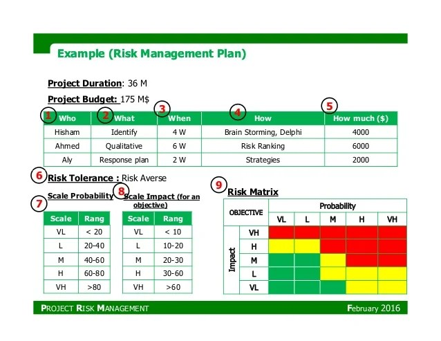 Risk Management Plan Example It – Risk Management Plan Example Template