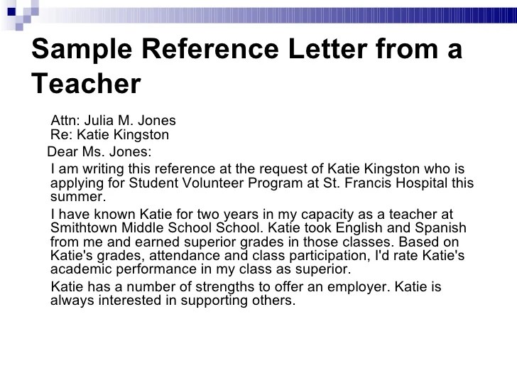student recommendation letter from teacher for high school - Pinar