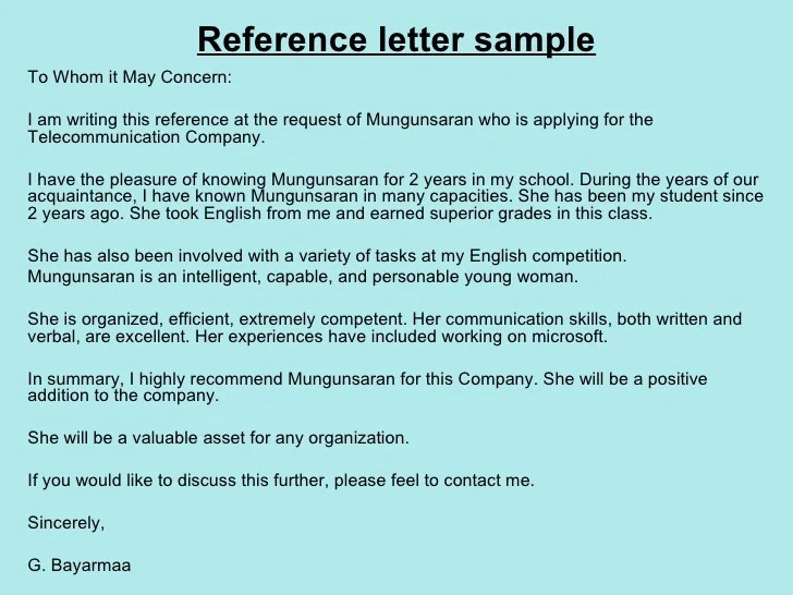 reference letter format to whom it may concern - Peopledavidjoel