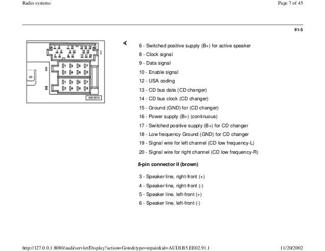 Audi Concert Radio Wiring Diagram Schematic Diagram Electronic