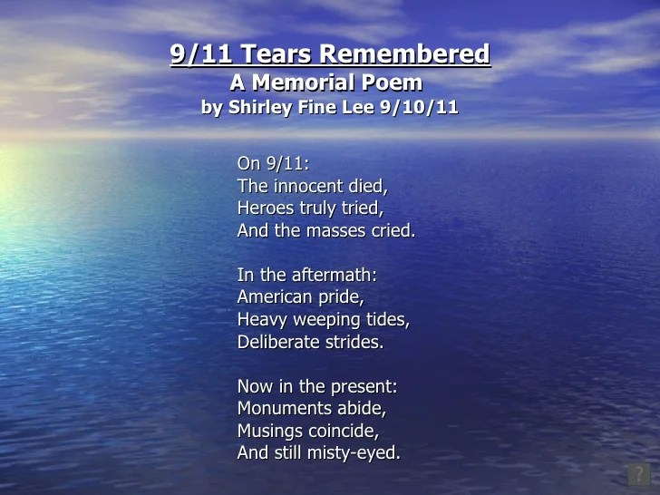 Short Life Quotes Wallpaper 9 11 Tears Remembered A Memorial Poem
