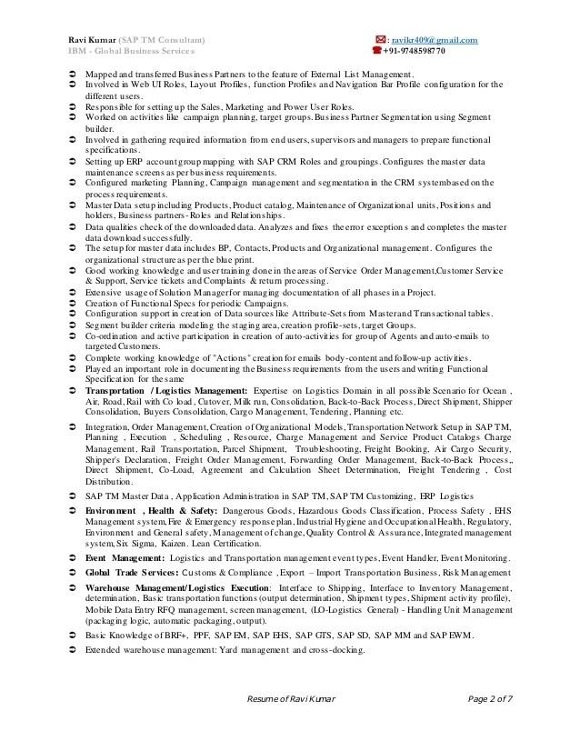sample sap mm consultant cover letter - Romeolandinez - sap crm functional consultant sample resume