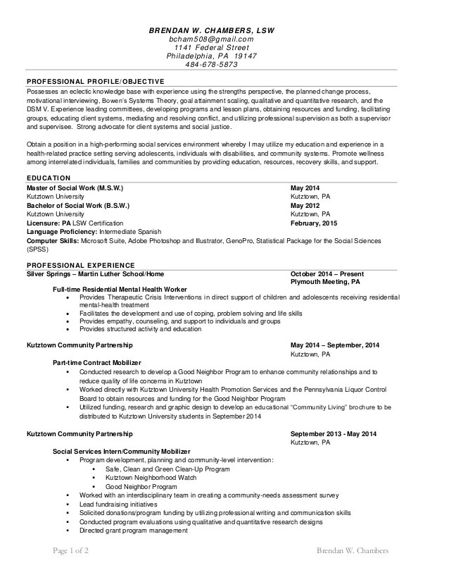 msw resumes - Boatjeremyeaton - Sample Social Work Resumes