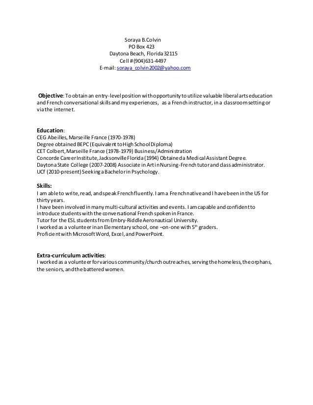 language instructor resume - Alannoscrapleftbehind