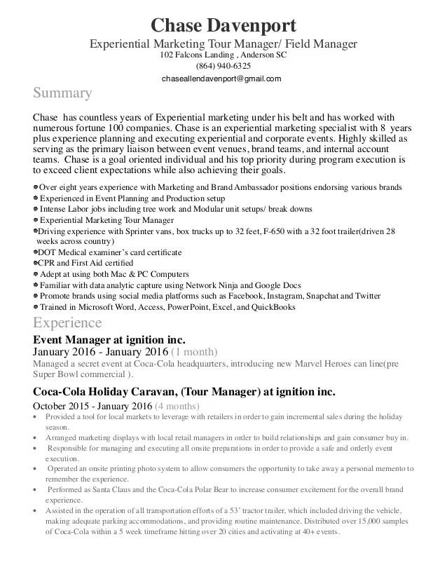 tour manager resume - Kordurmoorddiner