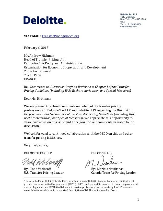 deloitte cover letter