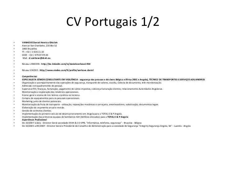 disponible immediatement cv anglais