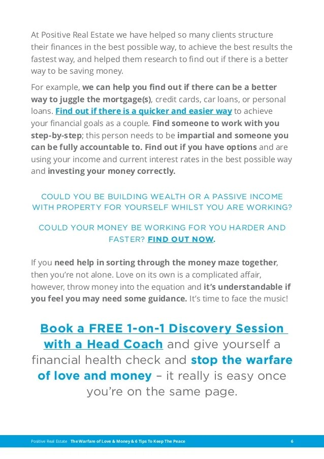 The Warfare of Love & Money - 6 tips to keep the peace-Discovery-Ses…